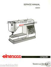 Elna 5000/ CLUB * SERVICE/ REPAIR MANUAL & Parts BOOK (machine schematics) on CD