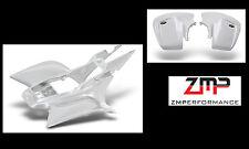 NEW HONDA TRX450R 04 - 05 WHITE CARBON FIBER STANDARD FRONT AND REAR FENDER SET