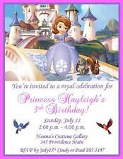 12 Custom Sofia the First Birthday Invitations ~ Style #4