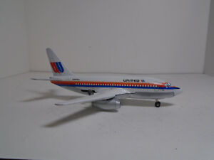 DINKY TOYS #717-G BOEING 737 JET AIRLINER 1970 CUSTOM RESTORED TO UNITED  NM .