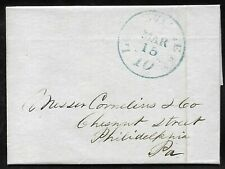 1848 Folded Letter Cover Louisville Kentucky to Philadelphia