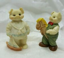 """Pig 2"""" Miniature Collectable 1991 Little Boys with Toys Figurine  CUTE"""