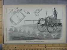 Rare Antique Orig VTG Stirrer Pump Nether Spray Machine Illustration Art Print