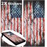 2X America Flag Corn Hole Board Game Decal Stickers Vinyl Digital Printed