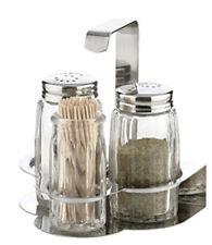 Tris Tescoma Classic servizio da tavola sale pepe stuzzicadenti in vetro cm 4x10