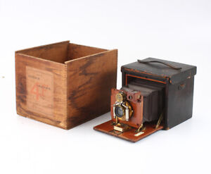 KODAK NO. 4 FOLDING KODAK SATCHEL, 1895 IMPROVED MODEL BOXED/cks/199201