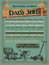 """Dad's Shed, Retro metal Sign/Plaque, Gift, Home 10"""" x 8"""" Large"""