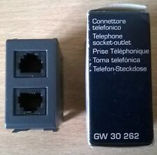 Gewiss GW 30262 Connettore telefonico doppio Serie Playbus RJ11 (ISDN 6/4) Nero