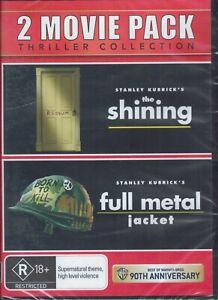 THE SHINING + FULL METAL JACKET (2 x DVD Set) 2 Movie Thriller Pack NEW & SEALED