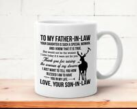 To My Father In Law Mug Father's Day Mug Father Of The Bride Gift From Groom