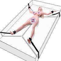 Sex-Under Bed System BDSM Bondage Set Hand Ankle Cuffs Restraints Adult SM Toy