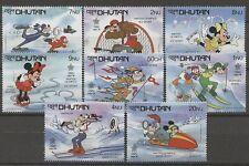 Walt Disney, Olympiade 1988 - Bhutan - 1050-1057 ** MNH