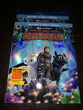 New HOW TO TRAIN YOUR DRAGON THE HIDDEN WORLD BLU-RAY+DVD+DIGITAL W/ SLIPCOVER