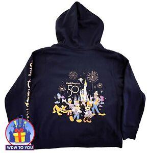 Walt Disney World 50th Anniversary Zip Up Hoodie Women's Size 3X New