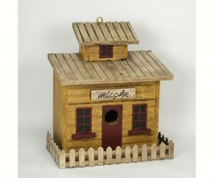 DECORATIVE  BIRD HOUSE -  Beach Cottage Birdhouse  -  SE944