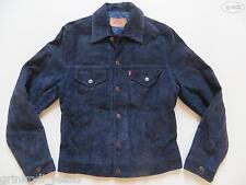 Levi's® Jeans Jacke Lederjacke, Gr. M, Blau, RAR ! Stil: Jeansjacke Echt-Leder !