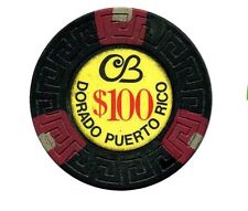$100 CERROMAR BEACH Casino Dorado Puerto Rico Blk & Triple Red-Gray In Bud Jones
