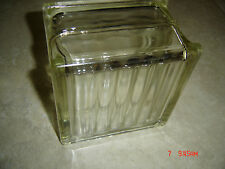 Rare - Vintage - Reclaimed Architectural Glass Block - 6 x 6 x 4 - Clean