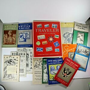 Travel Stamp Album 1964 with 14 other stamp collecting guides.