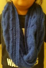 hand-knitted angora cashmere infinity scarf (royal blue)