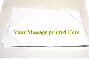 Personalised 50 x 100cm White Towel