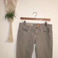 Pilcro and the Letterpress Anthropologie Jeans Gray Stet Skinny Stretch Size 27