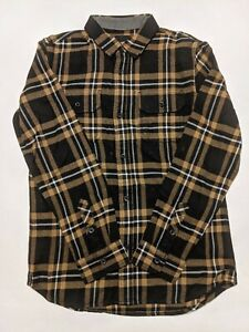 Vans New Westminster Flannel Button Down Shirt Youth Boy's Medium