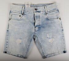 G-Star Raw, NEUF RADAR shorts en jeans, gr. W34 bleu usé look vintage 1/2 shorts