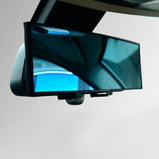 300mm Wide Anti-Glare Blue Curved Surface Rear View Mirror Fit All Car V137HC