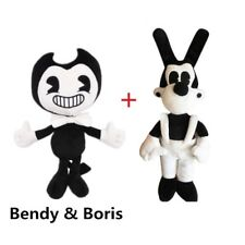 2x Bendy and the ink machine Bendy and Boris Toy Figure Plush Doll XMAS Gift 12'