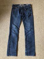 Men's Guess Vermont Slim Straight Dark Wash Low Rise Denim Jeans W30 L32