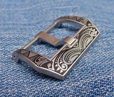 Edle Schließe Buckle 26 mm für Lederstraps Uhrenbänder Vintage Retro Ammo Strap