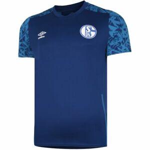 Umbro Football Soccer S04 FC Schalke 04 Mens Training Jersey Shirt 2020 2021