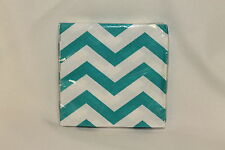 Caribbean Teal Chevron  Baby Shower Party Supplies Small Beverage Napkins