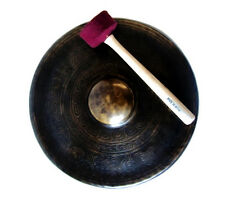 """TIBETAN GONG _ ETCHED BUDDHIST TEMPLE GONG 12"""""""
