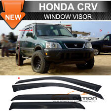 Fits 98-01 Honda CRV 4 Door Sun Window Visor Dark Smoke Slim Style 4Pcs