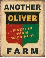 Another Oliver Farm Farming Equipment Logo Distressed  Metal Tin Sign #1775