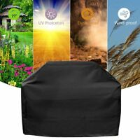 Waterproof BBQ Cover Grill Outdoor Fire Pit Gas Dust Rain Protector Round New