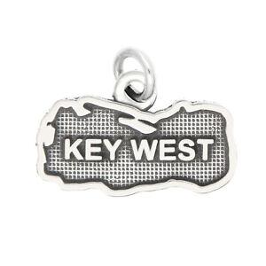 LGU® Sterling Silver Oxidized Key West, Florida Charm -with Options