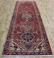 Antique Handmade Persian Karajeh Runner 330 x 103 cm Hand Knotted Wool Runner
