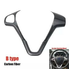 Ford Fiesta MK7 MK7.5 Carbon Fibre Decal Steering Wheel Cover Trim 2008-2017
