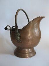 EDEL Antik handgefertigter Kupfer Kessel mit Keramik Griff & beweglicher Henkel