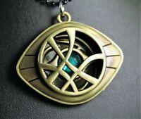 Marvel Dr. Strange Eye of Agamotto Pendant Necklace w/Free Jewelry Box and Ship