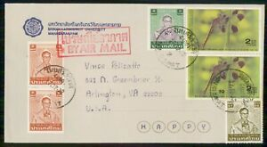 MayfairStamps Thailand 1962 to Arlington Virginia Air Mail Cover wwk38535