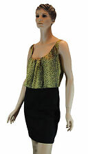Ladies Guess Black Bodycon Womens Leopard Print Evening Wedding Cocktail Dress