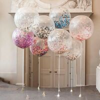 36'' With 10g Confetti Latex Clear Filled Balloons Birthday Party Wedding Decor
