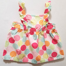 """Gymboree """"Popsicle Party"""" Flutter Sleeve Polka Dot Swing Top, 6-12 mos."""