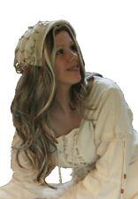 Mittelalter Larp Magd Maid Haube Perlenhaube Samt zum Gewand Perlen Boleyn