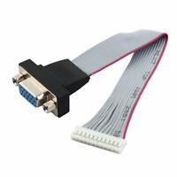 VGA HD15 hembra a 12 pin conector de cinta Cable plano