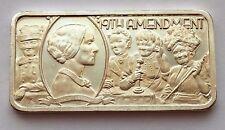 1974 1 OZ 999. FINE SILVER 19TH AMENDMENT AMERICA'S GREATEST EVENTS BAR